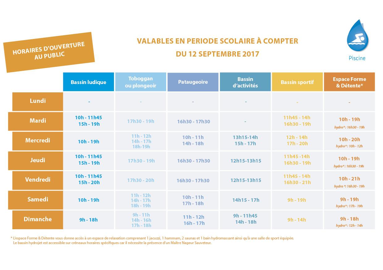 Affichage Web U2013 Piscine Iceo U2013 Période Scolaire  Septembre 2017