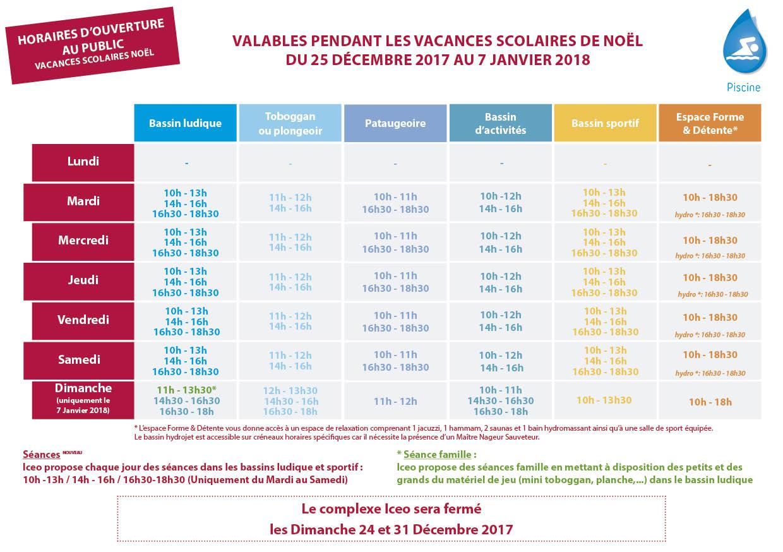 Affichage Web U2013 Piscine Iceo U2013 Vacances Scolaires U2013 Noël 2017 U2013 RVB