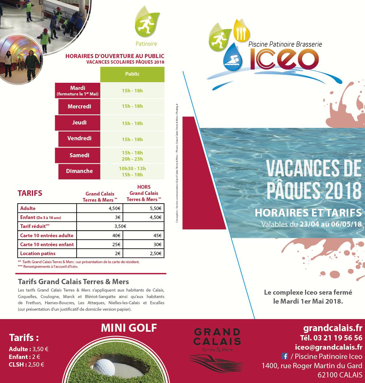 Exceptionnel Consultez Ici La Plaquette Horaires Et Tarifs 2018 U2013 Vacances De Pâques  2018 U2013 Valables Du 23/04 Au 06/05/18