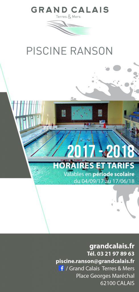 La Plaquette Horaires Et Tarifs 2017/2018   Piscine Ranson