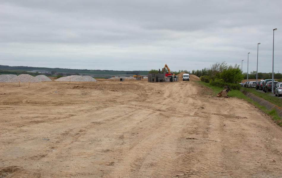 Gare de Fréthun : les travaux de terrassement sont en cours